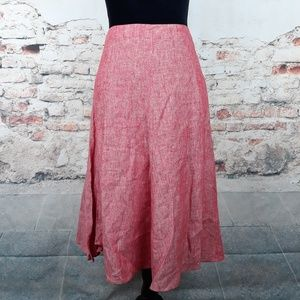 Banana Republic 4 Heather Red Linen Skirt